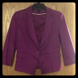 Beautiful WHBM plum jacket in size 8!